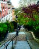 Monmarte Paris. Stairs in Paris Stock Photo