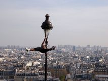 Monmartr. Montmartre in Paris and entertainer with a ball Stock Photo
