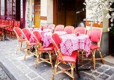 Monmartre cafe, Paris, France Stock Photography