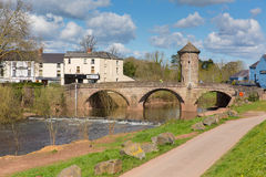 Monmouth bridge Wales uk historic tourist attraction Wye Valley Royalty Free Stock Photos
