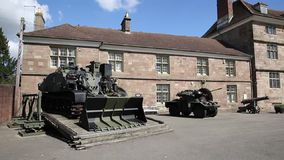Monmouth Castle and regimental museum Monmouth The Wye valley Wales uk tourist attraction pan stock video