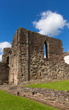 Monmouth castle Wales uk ruins of historic Welsh tourist attraction Wye Valley Royalty Free Stock Photos