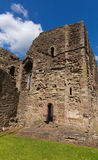 Monmouth castle Wales uk ruins of historic Welsh tourist attraction Wye Valley Royalty Free Stock Photo