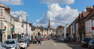 Monmouth stad Monmnouthshire Wales UK Royaltyfri Foto