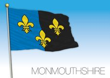 Monmouthshire flag, United Kingdom, vector illustration Stock Images