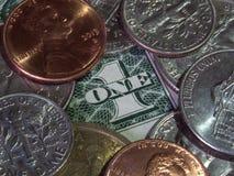 Monnaie et billets de devise Photo stock