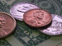 Monnaie et billets de devise Photo libre de droits