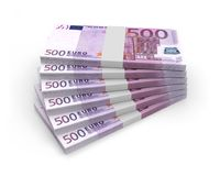 Monnaie-Eurobillets stockfotos