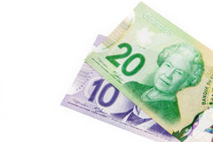 Monnaie fiduciaire canadienne Photo libre de droits