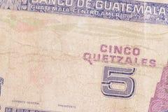 Monnaie fiduciaire du Guatemala Images stock