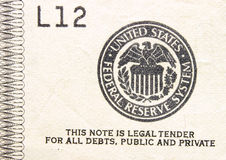 Monnaie légale  Photographie stock libre de droits