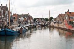 MONNICKENDAM HOLANDIA, Lipiec, - 26, 2017: Monnickendam, turystyczny połowu miasteczko w holandiach zdjęcia stock