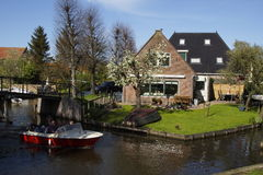 Monnickendam Nederlanden village. Traditional dutch architecture in the little fishermans village Monnickendam Stock Image