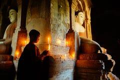 Monnik in Bagan, Myanmar Royalty-vrije Stock Afbeelding
