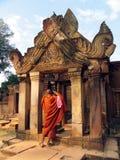 Monnik die beelden neemt Royalty-vrije Stock Foto