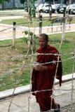 Monnik in gevangenis Stock Afbeeldingen