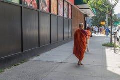 Monnik op de straten van New York Royalty-vrije Stock Afbeelding