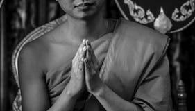 Monnik Praying royalty-vrije stock fotografie