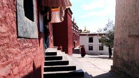 Monnik in Shigatse royalty-vrije stock afbeelding