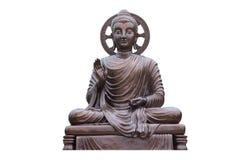 Monnik Statue in Wat-kholoa stock afbeelding