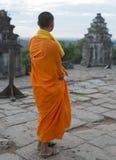 Monnik van Angkor Wat Royalty-vrije Stock Afbeelding