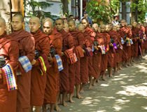 Monnik van myanmar Stock Foto