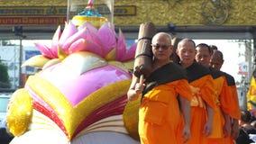 Monniken van Wat Phra Dhammakaya Stock Fotografie