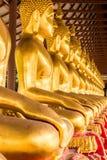 Monniks gouden beeld van Boedha Royalty-vrije Stock Afbeelding