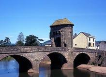 Monnow bridge, Monmounth, Wales. Stock Image