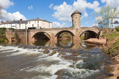 Monnow bridge Monmouth Wales uk historic tourist attraction Wye Valley Stock Images
