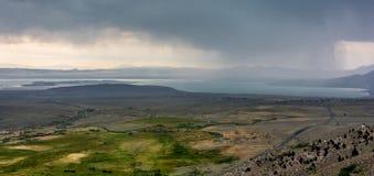 Mono перспектива озера Стоковые Изображения