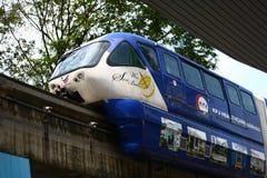 Mono рельс в Куалае-Лумпур Малайзии Стоковые Фотографии RF