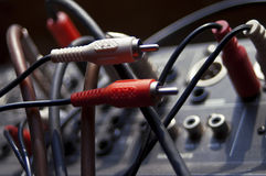 2 mono тональнозвуковых кабеля Стоковая Фотография