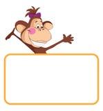 Mono. Bandera del animal del bebé Fotos de archivo