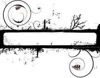 Mono bloemenmarkering Stock Afbeelding