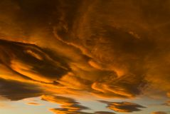 Mono cielo del lago Fotografía de archivo libre de regalías