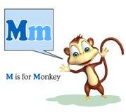 Mono con alfabeto Imagen de archivo