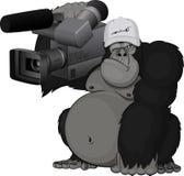 Mono con la cámara stock de ilustración