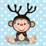 Mono con las astas Imagen de archivo libre de regalías