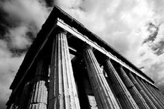 Mono corner of Temple of Hephaistos colonnade Stock Image