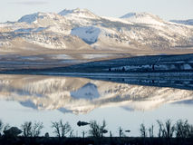 Mono Craters Reflection. Mono Craters Reflected in Mono Lake, Sierra Nevada, Ca, USA royalty free stock images