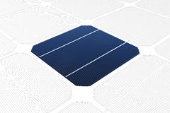 Mono-crystalline solar cell against a drawing Stock Images