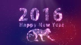 Mono de la Feliz Año Nuevo 2016 Imagenes de archivo