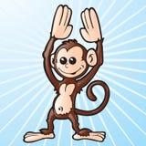 Mono de la historieta Imagen de archivo libre de regalías