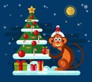 Mono de la Navidad Fotografía de archivo libre de regalías