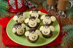Mono de los molletes del chocolate Foto de archivo libre de regalías