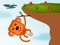 Mono del acantilado Fotos de archivo libres de regalías