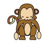 Mono del bebé Stock de ilustración