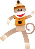 Mono del calcetín de Víspera de Todos los Santos Fotografía de archivo libre de regalías