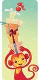 Mono del fuego rojo - símbolo de los nuevo 2016 años Fotos de archivo libres de regalías